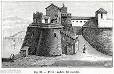 PIZZO CALABRO: Castello dove fu fucilato il Re di Napoli Gioacchino Murat. 1900