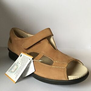 Nubuck Easy Sandals B V Snowflake Ladies Tan Variable Fitting nggRSIAqr