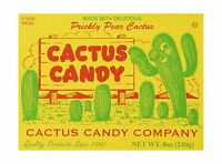 1/2 Pound Box Of Prickly Pear Cactus Candy Free Shipping