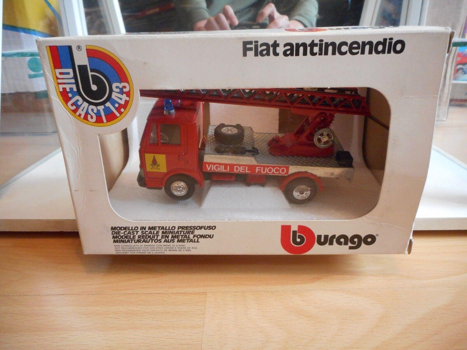 Bburago burago Fiat 50 NC Antincendio Vigili Del Fuoco in rosso on 1:43 in Box