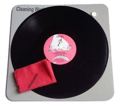 antiest/ático suave Limpiador de discos de vinilo LP con cepillo de limpieza para CD y /álbum de CD
