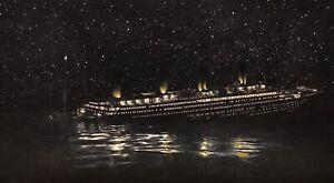 Original Titanic Sinking Drawing (100% Hand drawn)