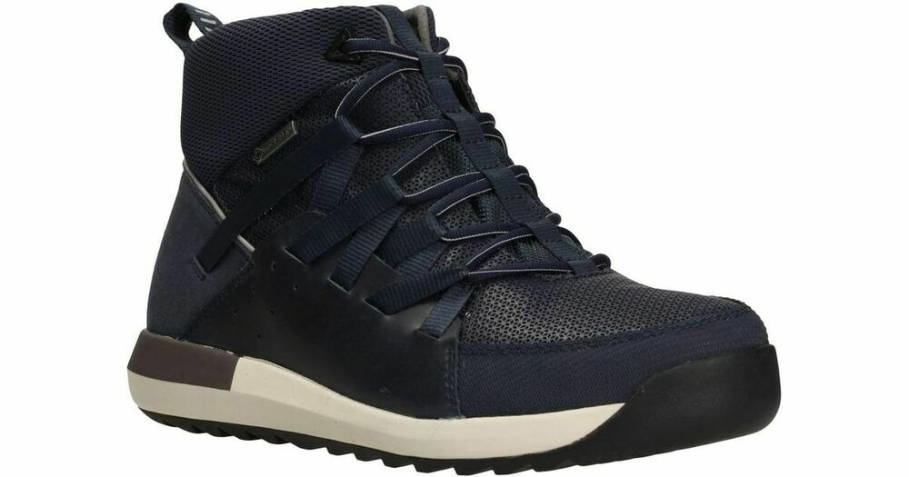 Clarks Pickford Hi Gtx Homme Lacets Bottes D'hiver Taille Uk 10 G