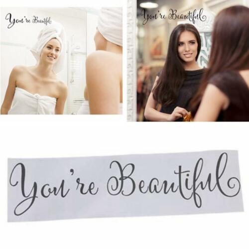 You/'re Beautiful Quote Inspirational Wall Decal For Home Bathroom Mirror New KI