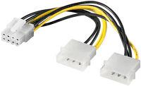 PCI Express 2.0 Adapter Netzteil Strom 8-polig 2x 4 Pin Buchse 1x 8 Pin Stecker