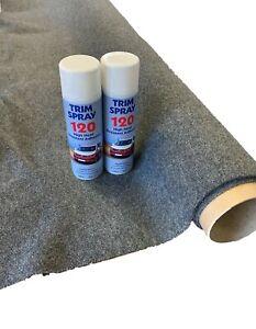 4sqm-Smoke-Stretchy-Camper-Van-Lining-Carpet-Kit-amp-2-Trim-Spray-Adhesive