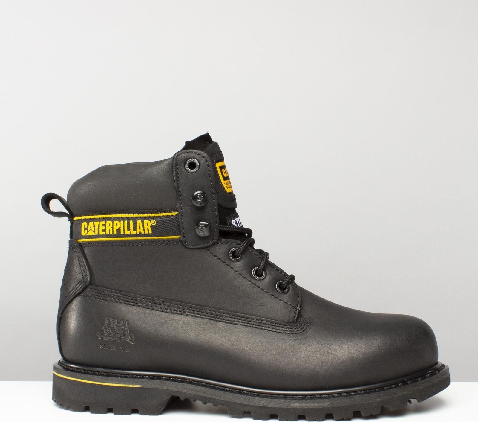 Caterpillar ® HOLTON Mens Waterproof Steel Toe Waterproof Mens Antistatic S3 Safety Boot Black fb5ed7