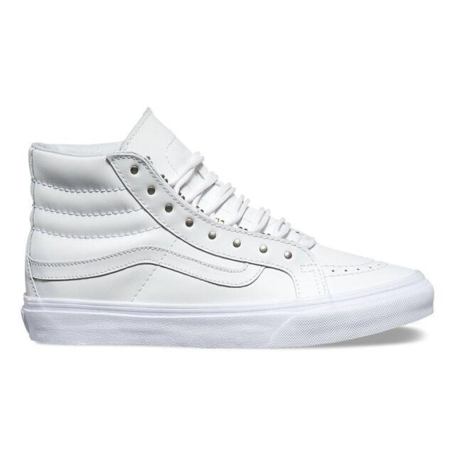 603f735e08 Vans Off the Wall Sk8 Hi Slim Rivets Antique Silver Shoes Mens 4 Womens 5.5