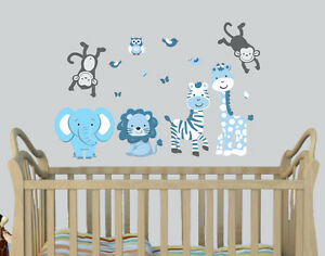 Image Is Loading Expedition Animals Stickers Boys Room Decal Nursery Wall