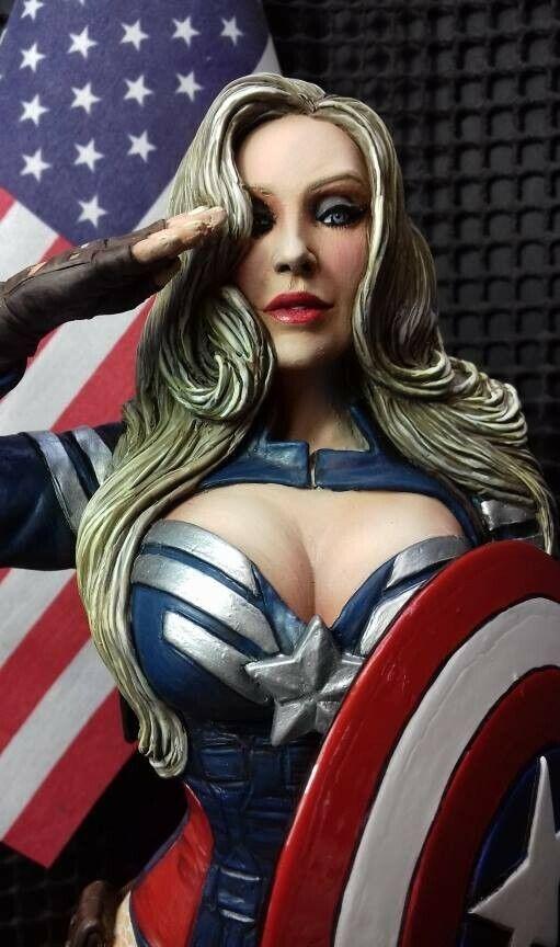 1 6 Resin Model Kit Female Figure 'Miss American Dream'