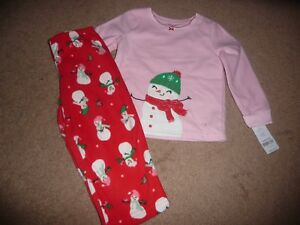 a87803011 NEW NWT Carters Toddler Girls size 3T Christmas Snowman Fleece ...
