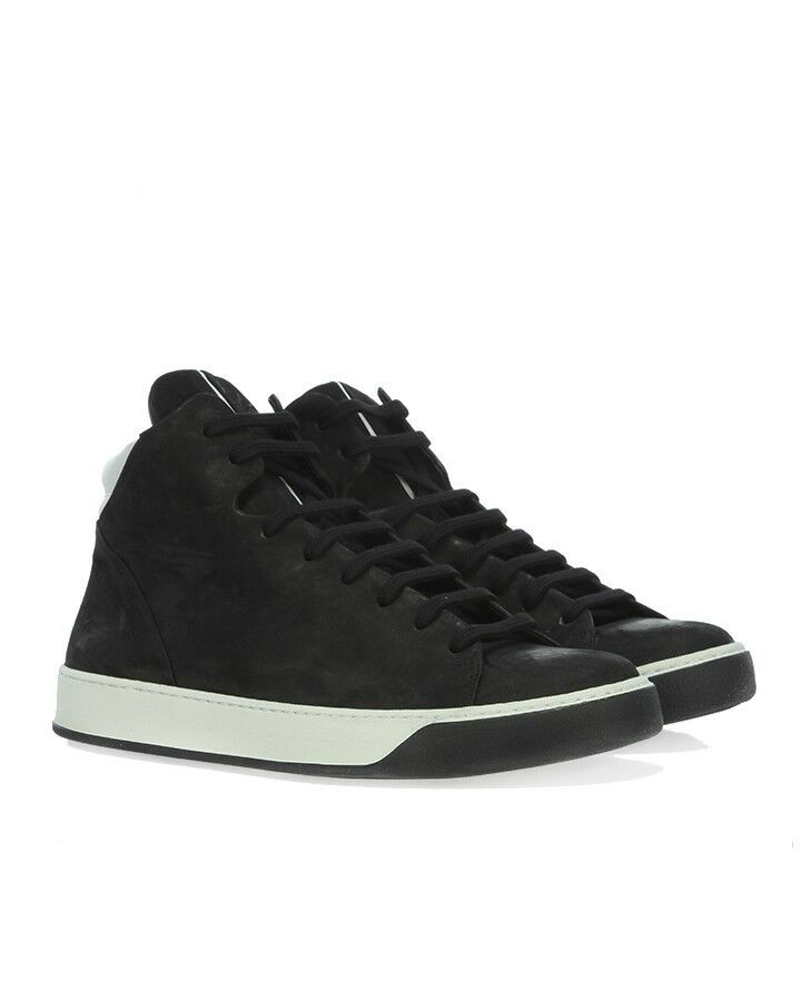 THE LAST CONSPIRACY 'Brander' Black Hi Top Leather Trainers 7 / 41 RRP: £235.00