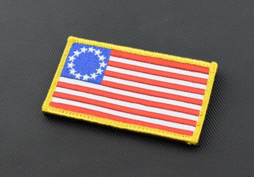 Betsy Ross American Flag Embroidered Morale Patch 1776 Patriot Hook /& Loop