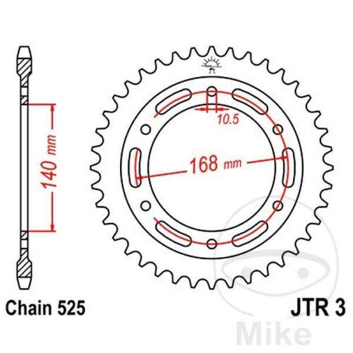 JT Rear Sprocket 47T 525P JTR3.47 Steel BMW F 650 800 GS 2012