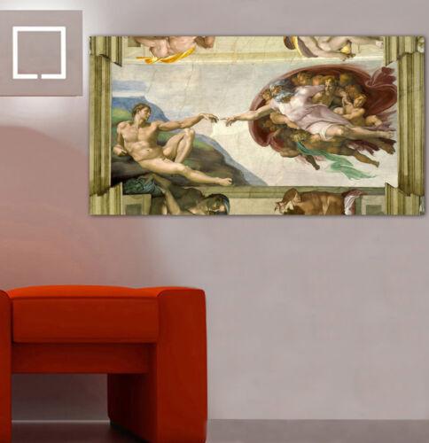 Michelangelo CREATION OF ADAM CANVAS PRINT Home Wall Decor Art Painting Giclee