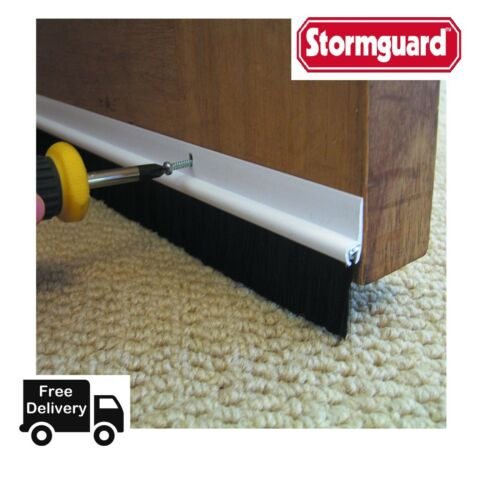 Stormguard Bottom of The Door Brush Strip Draught Excluder 5 COLOURS