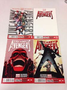 Uncanny Avengers #1 white cover variant, #1 through #25 Annual #1 #8 AU set