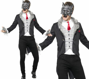 Image is loading Big-Bad-Wolf-Costume-Mens-Halloween-Fancy-Dress-  sc 1 st  eBay & Big Bad Wolf Costume Mens Halloween Fancy Dress Outfit Deluxe ...