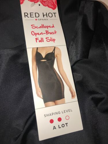 Details about  /Red Hot Assets Spanx FS3515 Open Bust Full Slip Black Small