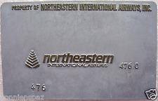 Vintage Northeastern Airways Metal Ticket Validation Plate, Airline Collectible