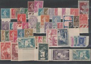FRANCOBOLLI-1907-37-FRANCIA-LOTTO-MNH-E-2337