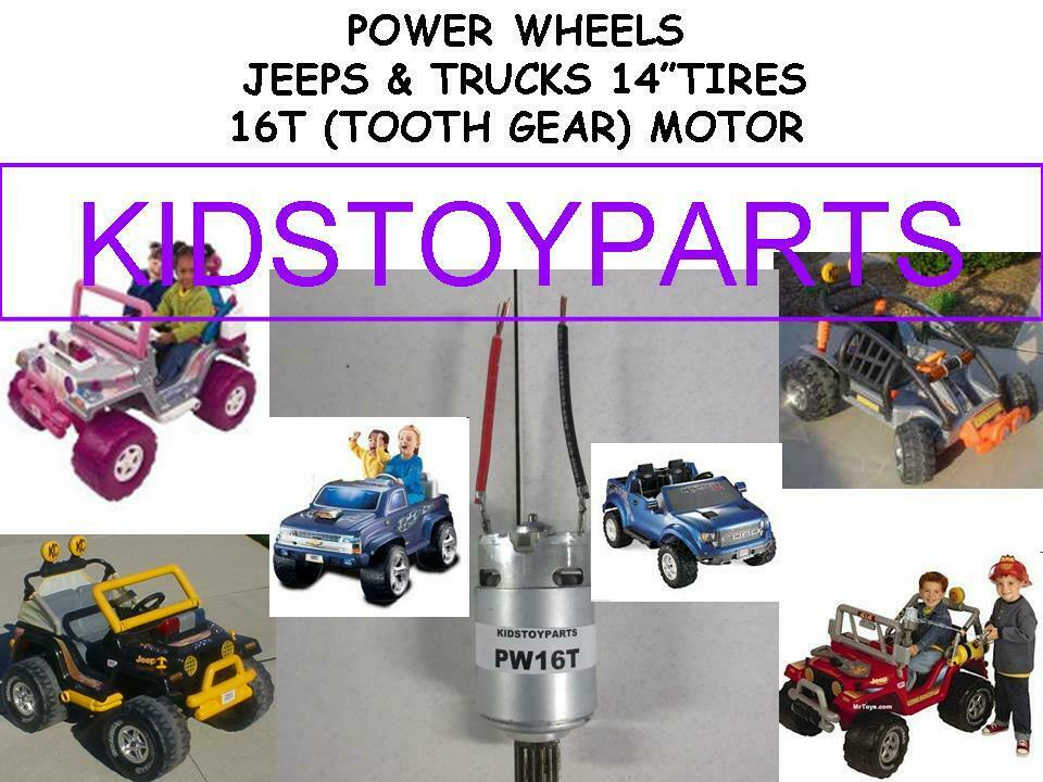 New  POWER WHEELS 16T  7 ELECTRIC MOTOR - FOR OLDER GEARBOXES WITH SNAPFITS