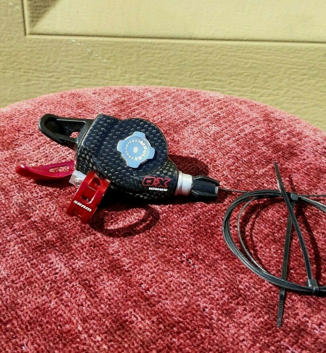 SRAM XO 2  Speed Left Front Shifter Trigger Anodized Red Carbon Rare 29er 125g  reasonable price