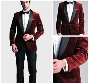 fdbf991b2a7 Custom Made Men s Velvet Wedding Groomsman Best Man Groom Tuxedos ...