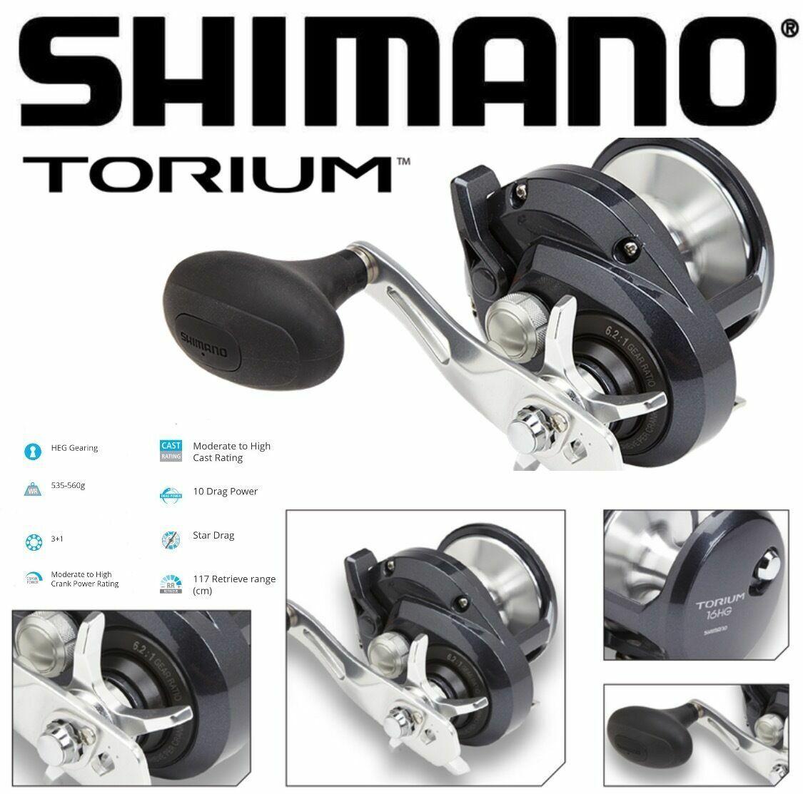 Shimano Baitcasting Hi Speed Cocheretes Torium hga & hgal