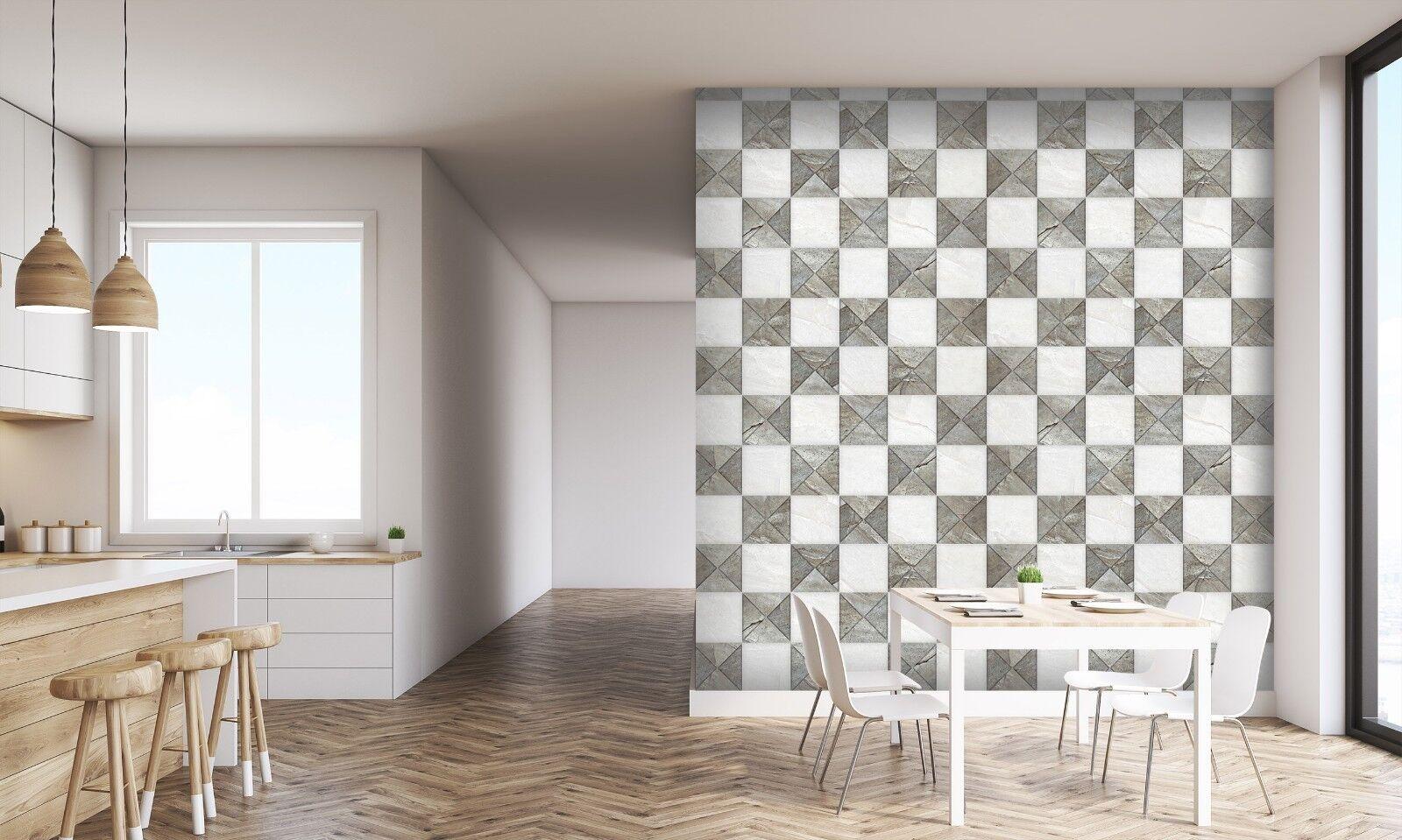 3D Schwarz Weiß Ziegelstein 634 Textur Fliesen Marmor Tapeten Tapete Wandbild AJ