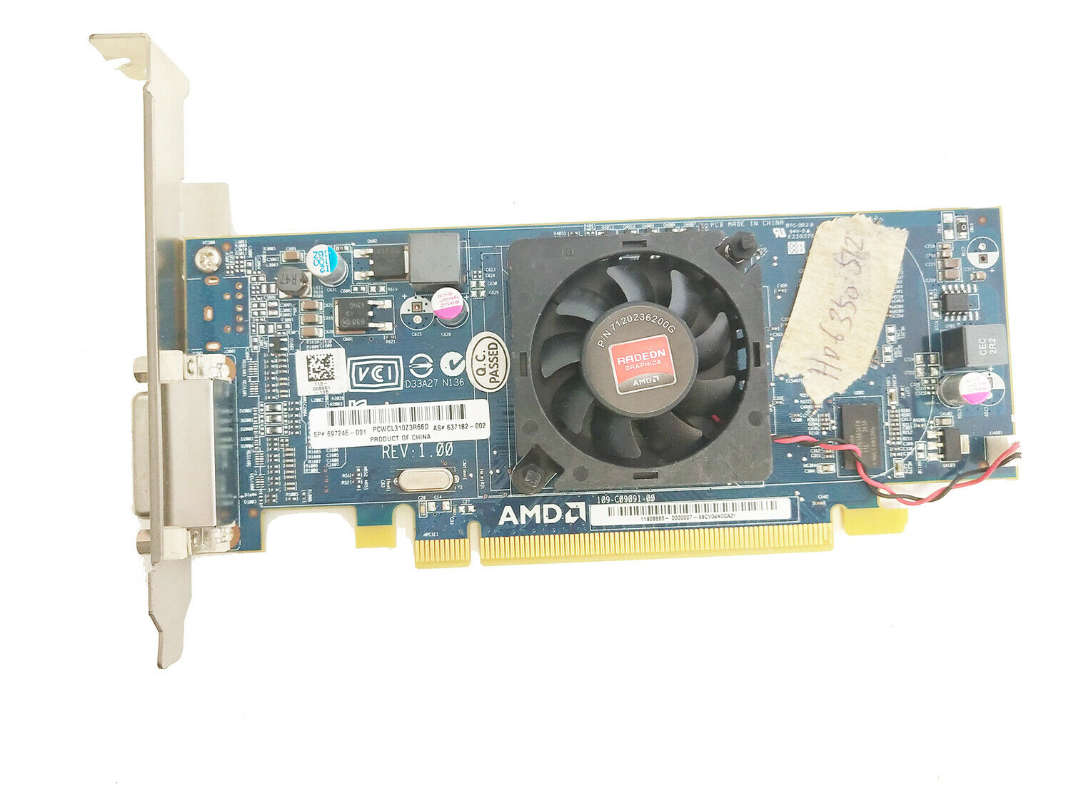 FOR HP AMD Radeon 6350 512MB PCI-E x16 DMS-59 Low Profile Video Card 697246-001