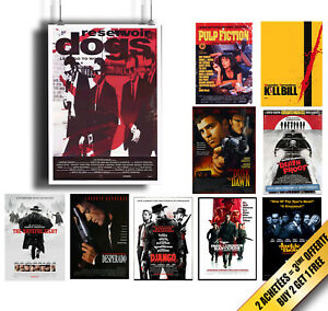 Poster-Affiche-TARANTINO-Cinema-Movie-A4-A3