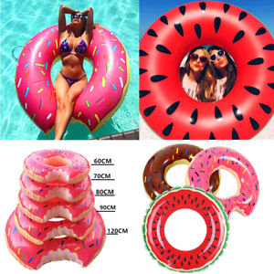 Kids-Adult-inflatable-Donut-Rubber-Ring-Pool-Float-Lilo-Toys-Doughnut-Dohnut-UK