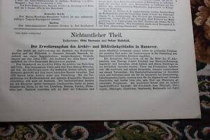1890 Bauverwaltung 51/bibliothèque Hanovre/london Métro-afficher Le Titre D'origine