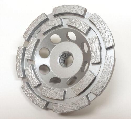 "PREMIUM QUALITY 4PK 4"" Double Row Pro Diamond Grinding Cup Wheel 14 Segments"