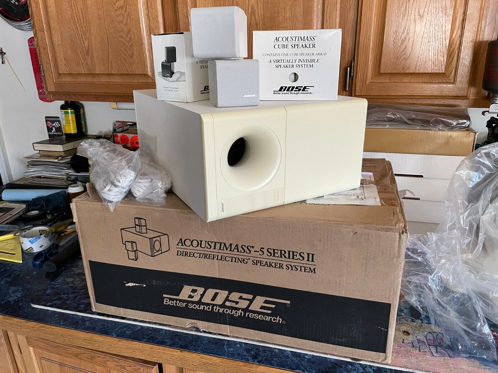 Bose Acoustimass 5 Series II (White) 4.1 Surround Sound Home Audio. Buy it now for 220.00