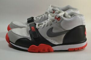 Details about Pre-owned Nike Air Trainer 1 Mid Infrared QS White/Grey/Black  607081 100