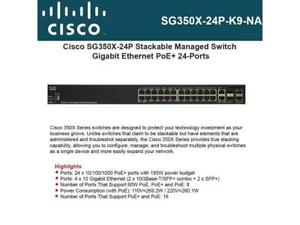 Cisco-Systems-SG350X-24P-K9-NA-24-Port-Gigabit-Stackable-Switch