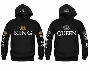 5bde9dc4 King &Queen Matching Couple Hoodies Love Matching His and Her Fleece ...