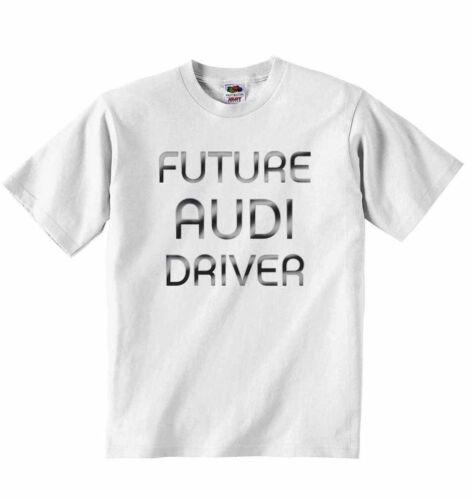 Future Audi Driver New Personalized Soft Cotton T-shirt Tees Boys Girls Unisex