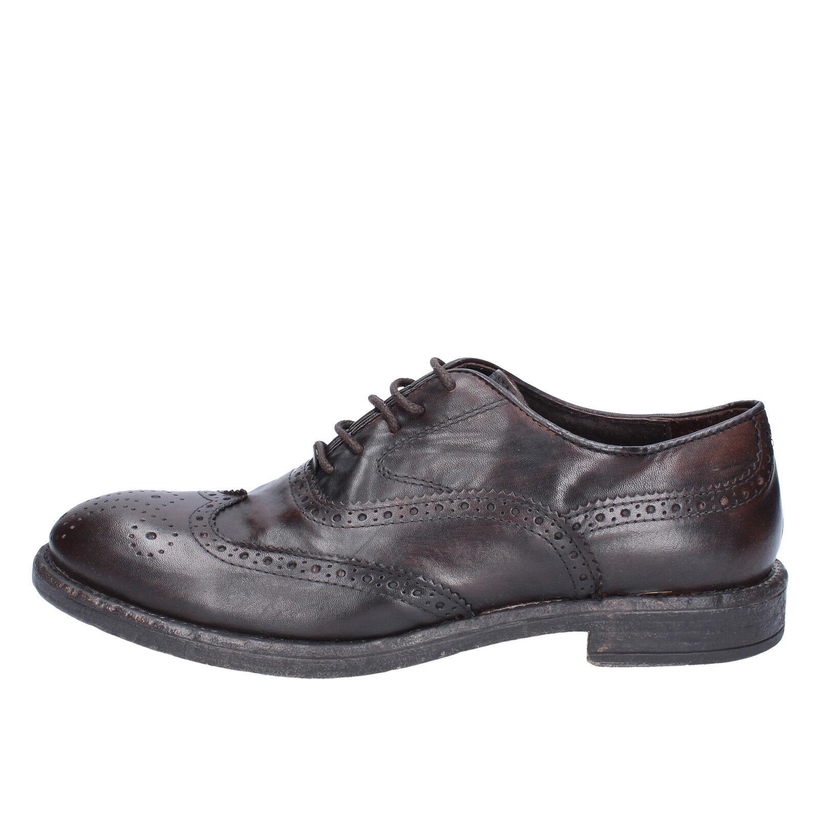 Mens shoes Cesare Maurizi 44 EU Elegant Brown Leather bx525-44
