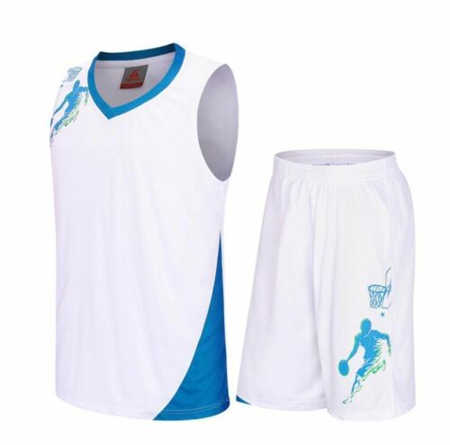 Kids Basketball Jerseys /& Shorts Set Sports Uniforms Boys Breathable Clothing