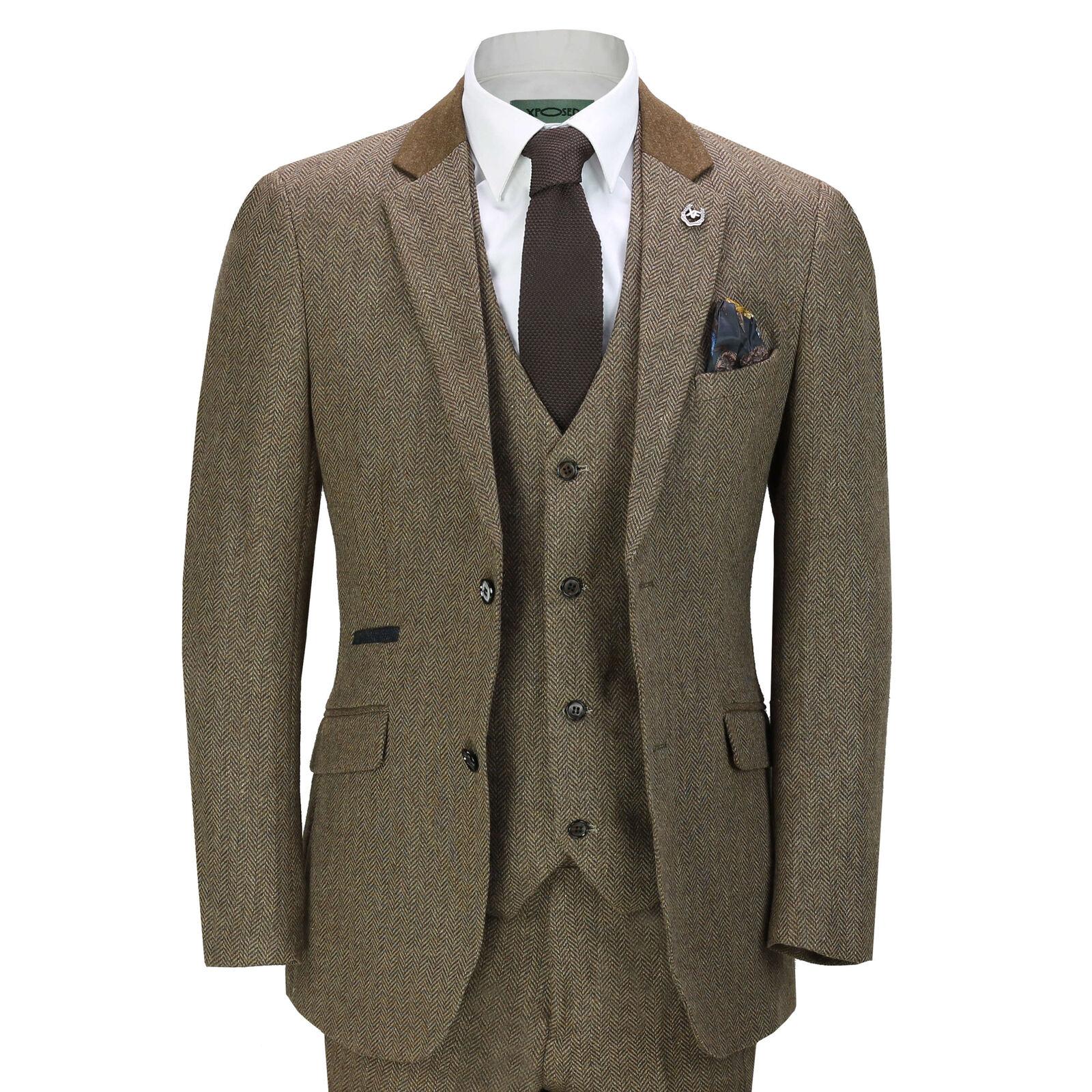 Tommy Hilfiger Mens Gray Pinstripe MOD FIT Flat Front 2 Piece Suit 42L 34x31
