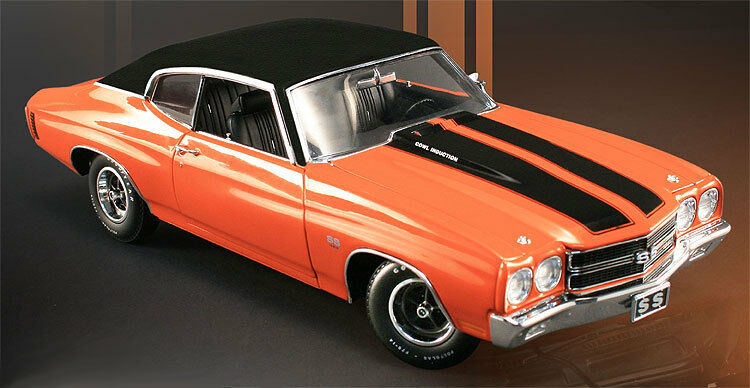Acme 1970 Chevelle Ss Monako Orange mit Vinyl Top 1 18 Le 454pcs Hard To Finden