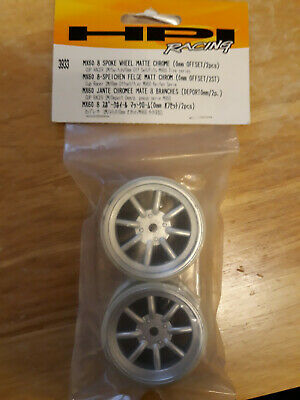 MX60 8 SPOKE WHEEL MATTE CHROME 3mm OFFSET//2pcs 3938