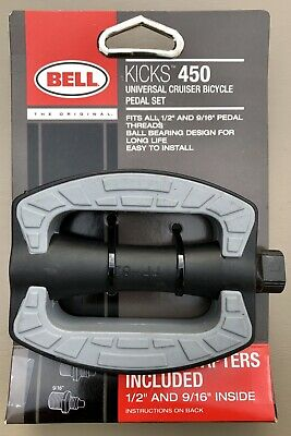 """Bell Kicks 450 BEACH Cruiser Bicycle Pedal Set Pair Fits All 1//2/"""" And 9//16/"""" New"""