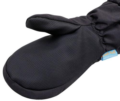 Kids Boys Girls Children Solid Waterproof Winter Sports Mittens Ski Snow Gloves