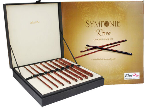 KnitPro Symfonie Rose Wood Häkelnadel-Set 20736 in edler Geschenkbox