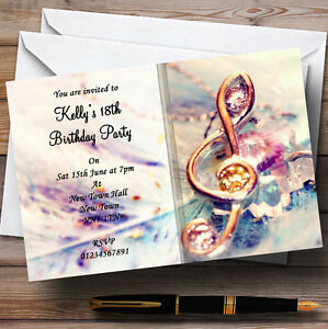 Music-Treble-Clef-Personalised-Party-Invitations