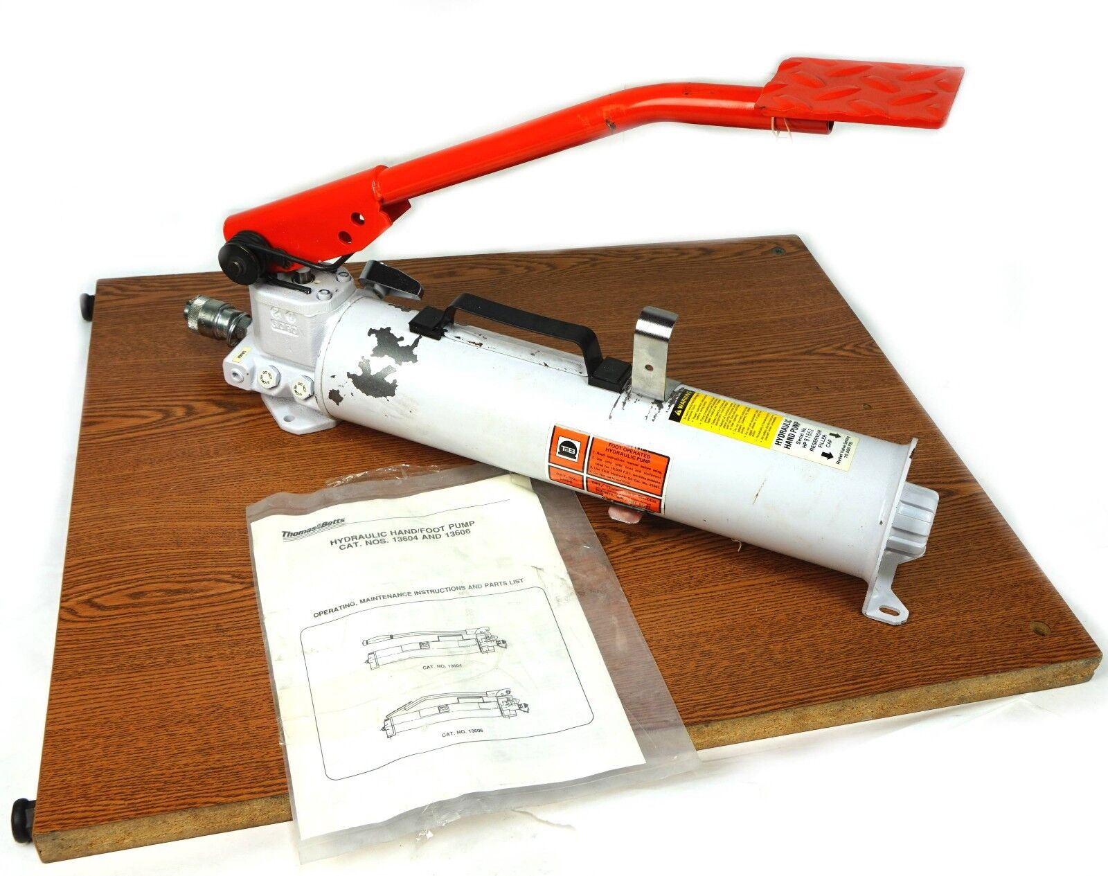 Thomas & Betts Foot Hydraulic Pump, Foot Hydraulic Pump, Hydraulic pump